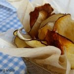 Chips de batata saludables